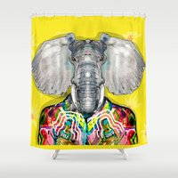 ELEPHAS Shower Curtain