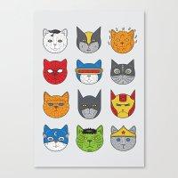 Super Cats Canvas Print