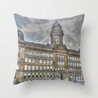 Glasgow Landmark Throw Pillow