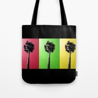 Palm Trees Rasta Tote Bag