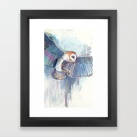 Broken Owl Framed Art Print