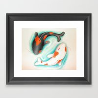 Coy Fish (Yin & Yang) Framed Art Print