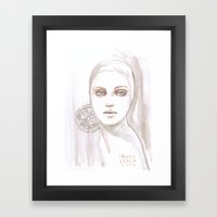Fade Fashion Illustratio… Framed Art Print