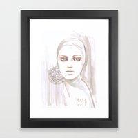 Fade Fashion Illustratio… Framed Art Print