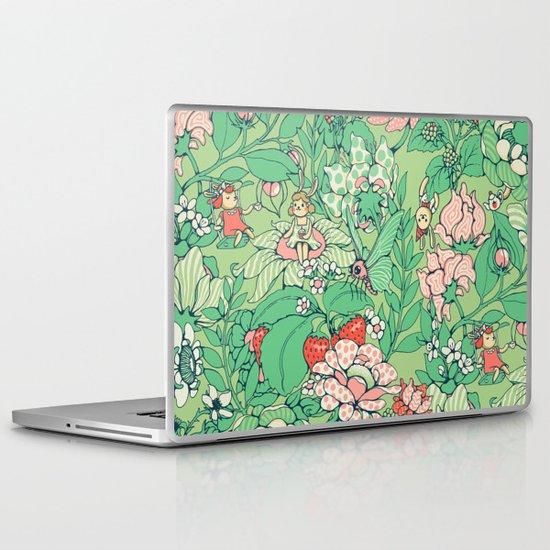 Garden party - sage tea version Laptop & iPad Skin