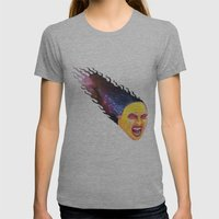 Comet Girl Womens Fitted Tee Athletic Grey SMALL