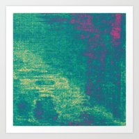 21-74-16 (Aquatic Glitch… Art Print
