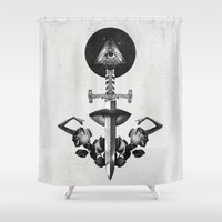 Drawing Down the Moon Shower Curtain