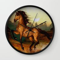Prairie dancer Wall Clock