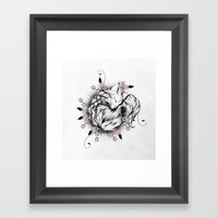 Little Fox Pink Version  Framed Art Print