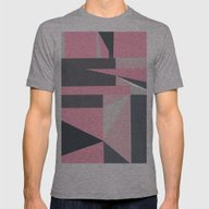 Modern Hot Pink Gray Abs… Mens Fitted Tee Athletic Grey LARGE