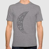 A Moon Full Of Hearts Mens Fitted Tee Athletic Grey SMALL