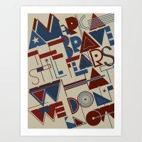 America the Brave Art Print