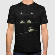 Hide And Seek Mens Fitted Tee Tri-Black SMALL