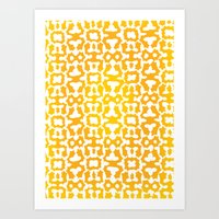 Orangesicle Pattern Art Print