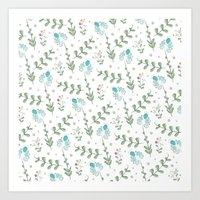 Fun Summer Flower Pattern Art Print