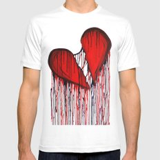Bleeding Heart SMALL White Mens Fitted Tee