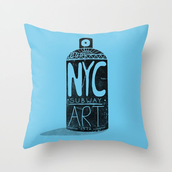 NYC 1972 Throw Pillow