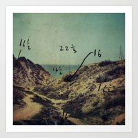 Arsuf Dune & sea reservation, Israel, scaned sx-70 Polaroid with Exposure brackets Art Print
