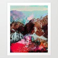 landscape Art Prints featuring Untitled 20110310e (Landscape) by tchmo