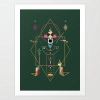 the last emperor Art Print