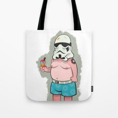 Trooper White Tote Bag