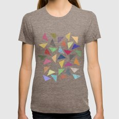 Colourful geometric pattern Womens Fitted Tee Tri-Coffee SMALL