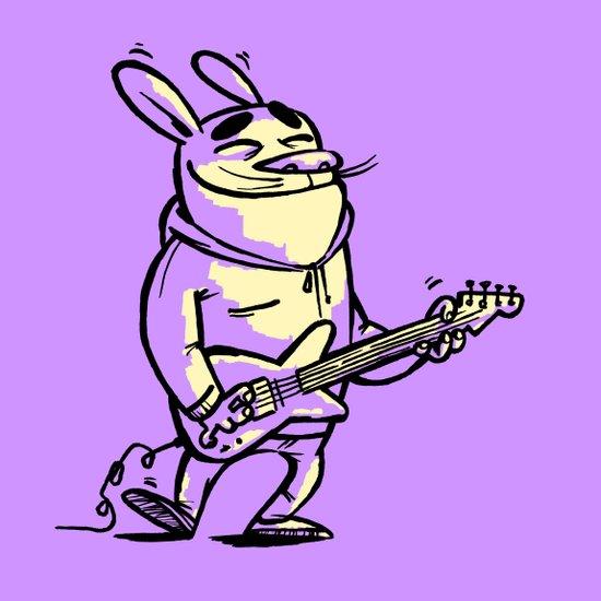 Beat Bunny Art Print