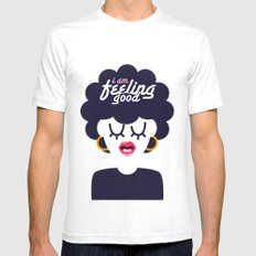 Feeling Good Mens Fitted Tee White SMALL
