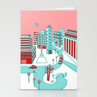 Winter City Stationery Cards