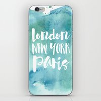 London, New York, Paris … iPhone & iPod Skin