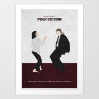 pulp fiction Art Prints featuring Pulp Fiction by Ayse Deniz