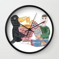 Lamen Bird. Wall Clock