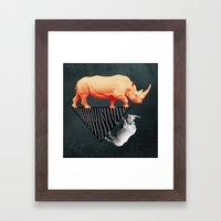 The Orange Rhinoceros Wh… Framed Art Print