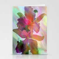 Easter Orchids Stationery Cards