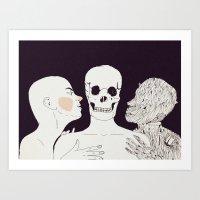 """"""" Mientras te acaricio, te veo envejecer . Amo a las dos. A tí y a tu muerte""""   Art Print"""