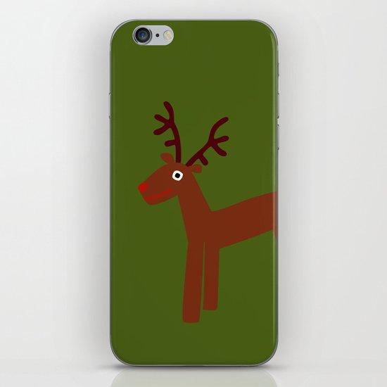 Reindeer-Green iPhone & iPod Skin