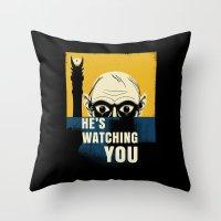 Watching You, Precious Throw Pillow