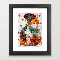Kazan cat Framed Art Print