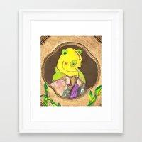 Banana Creme Pie Panda Framed Art Print