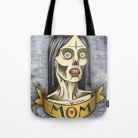 'Mom' Zombie Tattoo print Tote Bag