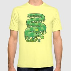 Stampede Mens Fitted Tee Lemon SMALL