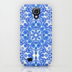 Cobalt Blue & China Whit… Galaxy S4 Slim Case