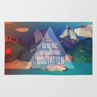 Generic Motivational Quotation Rug