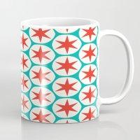 Retro Red Stars Pattern Mug