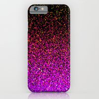 iPhone & iPod Case featuring Pink Glitter Sparkle Gradient by xjen94