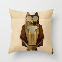 Owl Riffic Paper Cutout … Throw Pillow