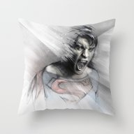 Throw Pillow featuring Superheroes SF by Alexis Marcou
