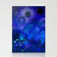 night flower magic Stationery Cards