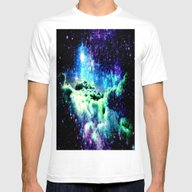 Galaxy Clouds Mens Fitted Tee White SMALL